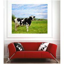 Affiche poster vache dans le pré 28833227 Art déco Stickers