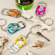 Colorful Flip Flop Keychain Bottle Opener Beach Theme Wedding Favors