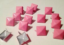 120pz  Borchie sfuse a piramide color ROSA *120pcs PYRAMID STUDS COLOR PINK