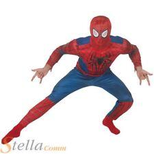 Mens Deluxe Superhero Musclechest Amazing Spiderman 2 Adult Fancy Dress Costume