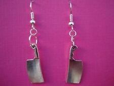 FUNKY CLEAVER KNIFE EARRINGS KITSCH KAWAII HORROR HALLOWEEN FANCY DRESS RETRO
