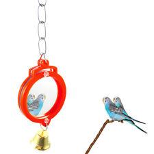 LC_ perroquet oiseau miroir rond forme de Coeur Cage suspendu montée
