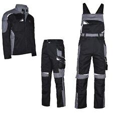 ARBEITSHOSE Latzhose Arbeitsjacke Berufskleidung schwarz grau