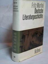 FRITZ MARTINI DEUTSCHE LITERATURGESCHICHTE GERMAN BOOK