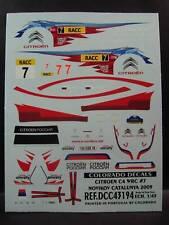 DECALS 1/43 CITROËN C4 WRC #7 RACC 2009   - COLORADO  43194
