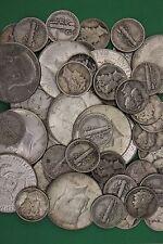 MAKE OFFER 5 Troy Pounds 1964 Kennedy Halves Mercury Dimes Silver Junk Coins