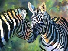 Giclee Print Zebra Art Safari Painting Wildlife Africa Nursery decor Baby gift