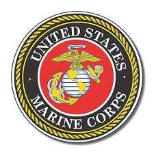 US Marines Corps USA sticker decal white gloss high grade vinyl