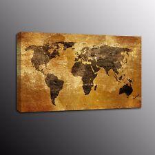 Landscape Canvas Prints Home Decor Antique World Map Canvas Wall Art Painting