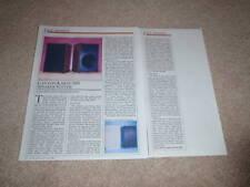 Canton Karat 300 Speaker Review, 1985, 2 pgs, Full Test
