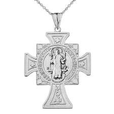 Sterling Silver San Benito De Jesus Pendant Necklace