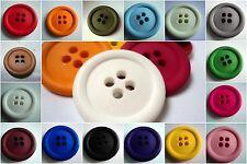 2pcs big matt clown matt plastique italien boutons de grande taille 38mm-B663 lot de couleurs