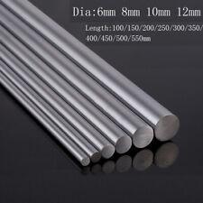 6 8 10 12mm Chromed Smooth Rod Linear Rail Shaft Steel CNC 3D Printer 100~550mm