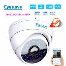 Eyes.sys H.265 2MP/3MP/5MP CCTV 48V POE 48IR DOME IP Camera ONVIF NVR RTSP DVR