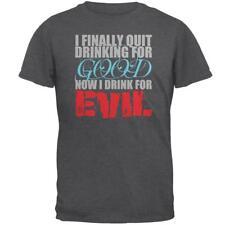 Quit Drinking For Good Evil Funny Mens T Shirt