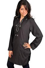 Wunderschöne Orientalische Damen Tunika Bluse mit Stickerei in schwarz-  FT0024