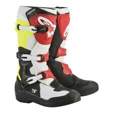 Alpinestars Tech 3 Mens MX Offroad Boots Black/White/Yellow/Red