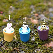 Miniature Landscape Ornaments Animal Dog Cat Rabbit Moss Home Garden Decor New