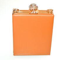 POCHETTE BEIGE CAMEL ORO borsello borsa donna cristallo  borsetta clutch F10