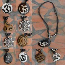 Hals-kette goa indien OM Surfer Triskele Spiral YinYang gothic pentagramm psy