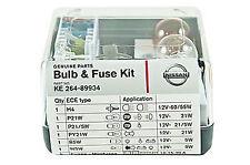 Geuine Nissan Car Spare Light/Lamp Bulb+Fuse Kit H4/W5W/P21W/PY21W KE26489942