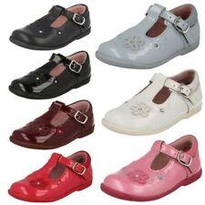 Enfant Fille Startrite Lanière en T Bouclé Chaussures Cuir Tournesol