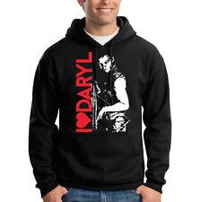 I Heart Love Daryl Walking Dead Funny Humor Hooded Sweatshirt Hoodie