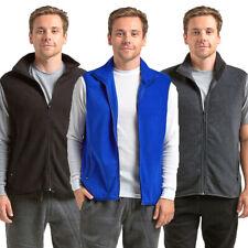 Men Polar Fleece Vest Zip Up Sleeveless Jacket Warm Winter Light Zipper S M L XL