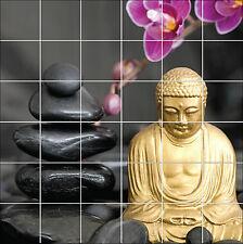 Stickers tile wall, earthenware,deco kitchen or bathroom Buddha ref 1878