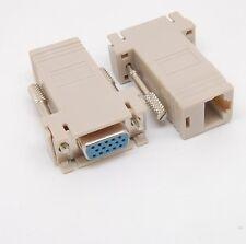 VGA RGB 15pin Extender Male/female To LAN CAT5 CAT5e RJ45 Ethernet Adapter