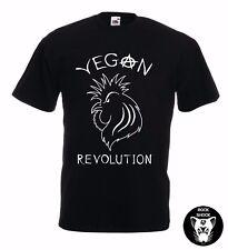 Vegan Pollo Unisex T-Shirt Rock Punk RIVOLUZIONE GALLO GALLINA GALLO DTG Qualità