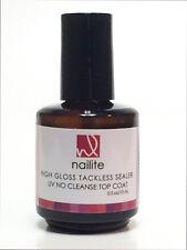 NAILITE HIGH GLOSS TACKLESS SEALER  UV TOP COAT 0.5 oz.  4  oz.