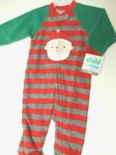 Pajamas Childrens Boys sleepwear Girls footsie Pjs Santa Child of Mine NB-3/6mo