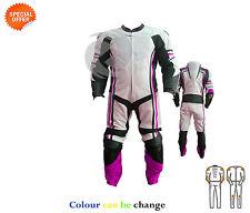 Moto engrenages SUPER MOTO CONDUITE costume en violet et blanc cuir