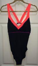NEW Womens Size 8 12 NIKE Lava Cross Back Black Coral Purple 1 pc Swim Suit