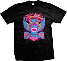 Revolution Death Before Dishonor Tattoo Biker Tats Sayings Mens T-shirt