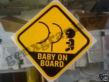 BABY ON BOARD WINDOW DECAL SIGN STICKER WARNING VINYL