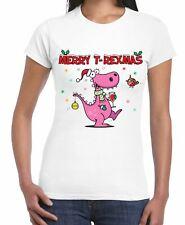 Merry T-Rex Mas Christmas Dinosaur Women's T-Shirt
