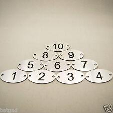 10 numero inciso a laser ovali, tavolo, etichette, Armadietto, pub, ristorante, club