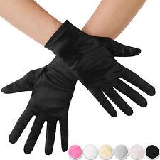 Handschuhe Gerafft Satin lang weiß 20er Jahre Charleston Karneval Fasching KK