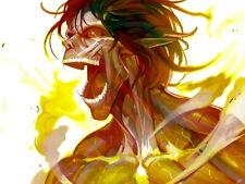 Rogue Titan Shingeki no Kyojin Eren Jaeger Anime Manga Giant Wall Print POSTER