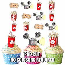 Precortado Película Cine Película Toppers Comestibles Cupcake Decoración Tartas