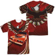 Authentic Pontiac Firebird Car Flames Sublimation Allover Front Back T-shirt top