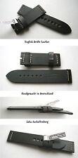 - VINTAGE ECHT ENGLISH BRIDLE RETRO ANTIK ECHTLEDERUHRBAND Darkbrown 24 od 26 mm