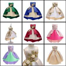Bridesmaid Flower Princess Girl Wedding Kid Formal Party Tutu Baby Dress Dresses