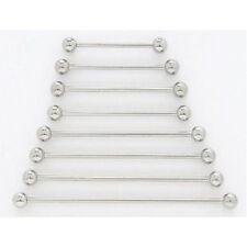 10pk 316L Surgical Steel Industrial Barbells Wholesale Ear Body Jewelry