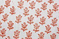 10 Yard Indian Cotton Flowers Print Batik Sewing Hand Block Printed Craft Fabric