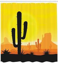 Cactus Shower Curtain Polyester Fabric 4 Sizes Available Bathroom Decor