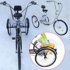 """3 Rad Dreirad für Erwachsene 24"""" Erwachsenendreirad 6 Gänge Fahrrad 2 Farbe"""