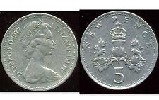 ROYAUME UNI   five   5  pence 1977   ( bis )